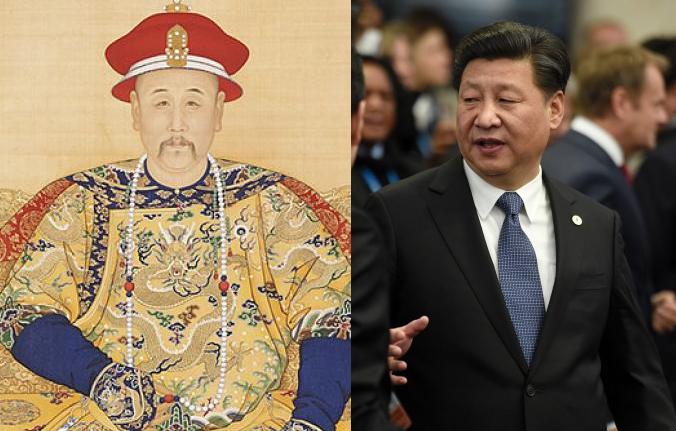 Портрет императора Юнчжэна в придворном одеянии, неизвестный художник. Фото: Public Domain-Art. Китайский лидер Си Цзиньпин в Ле-Бурже, Франция, 30 ноября 2015 г. Фото: Martin Bureau/AFP/Getty Images