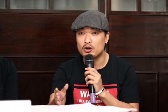 Гонконгский актёр и кинопродюсер Лесли Альберто Хо на пресс-конференции NTD в гонконгском Клубе иностранных корреспондентов, 23 июня 2016 года. Фото: Poon Zai-shu/Epoch Times