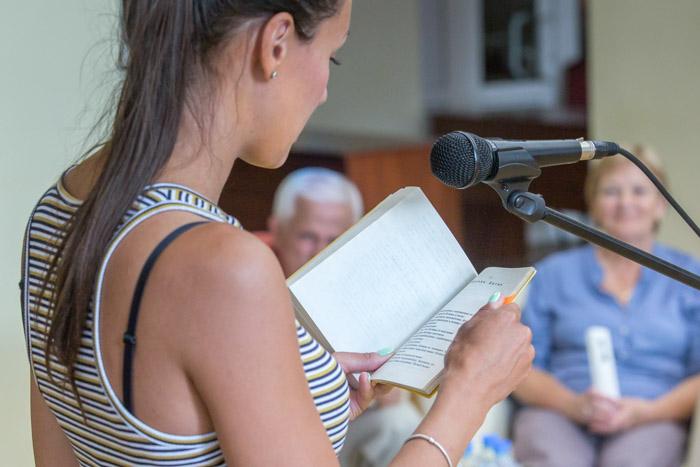 На чемпионате по чтению вслух «Открой рот» в Рязани. Фото: Сергей Лучезарный/Великая Эпоха