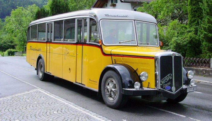 Когда появились первые автобусы?