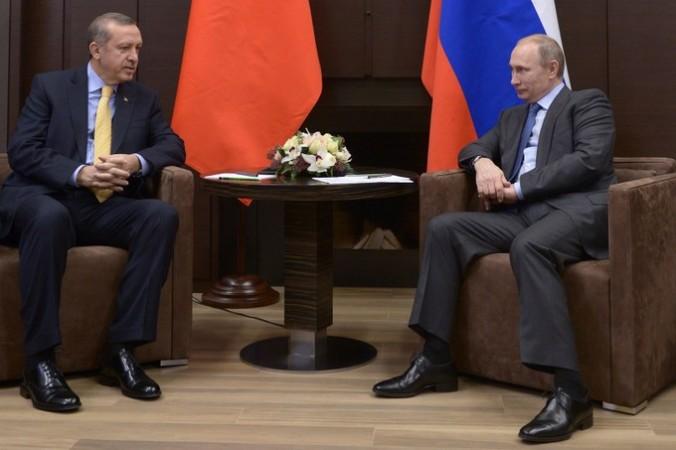 Президент России Владимир Путин и глава Турции Реджеп Тайип Эрдоган на встрече в Сочи в 2014году. Фото: ALEXEI NIKOLSKY/AFP/Getty Images