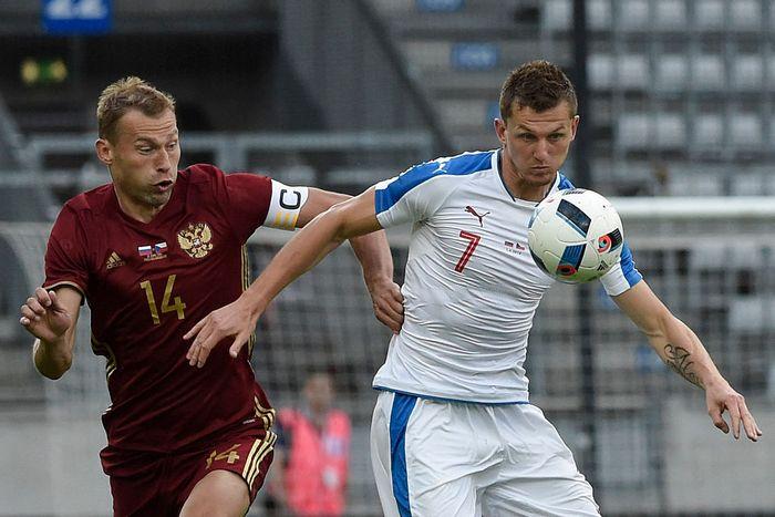 Товарищеский матч между сборными России и Чехии, 1 июня 2016 года. Фото: PHILIPP GUELLAND/AFP/Getty Images