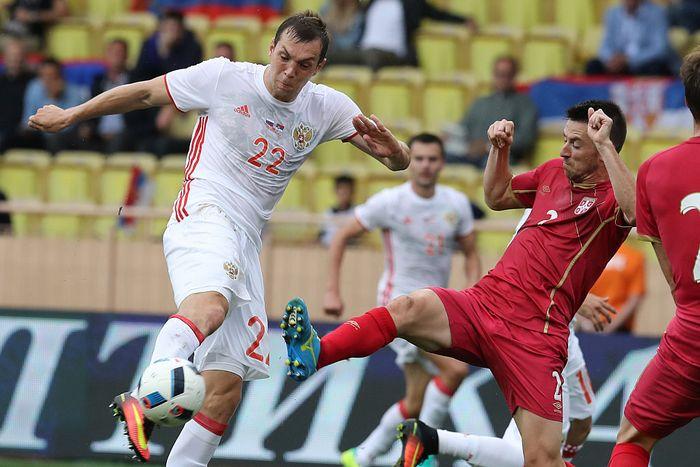 Товарищеский матч между сборными РФ и Сербии, Монако, 5 июня, 2016 год. Фото: VALERY HACHE/AFP/Getty Images