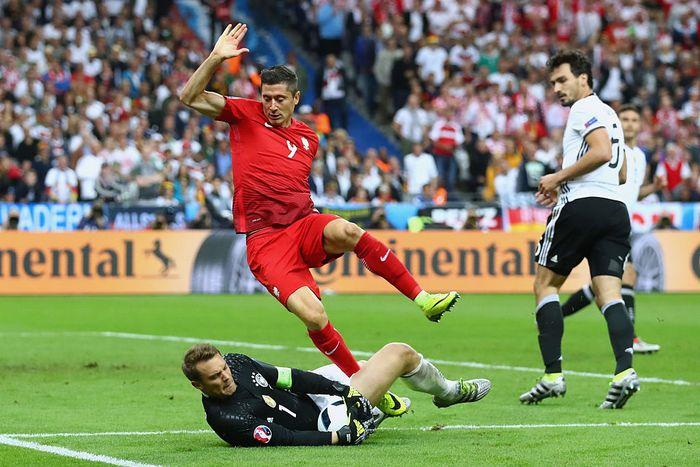 Матч между сборными Германии и Польши на Евро-2016, Франция, 16 июня, 2016 год. Фото: Alexander Hassenstein/Getty Images