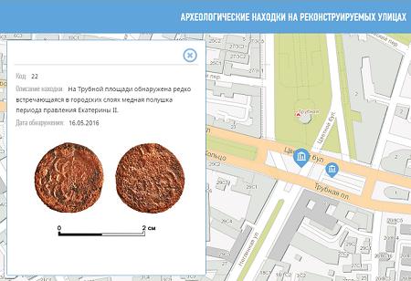 Карта археологических находок