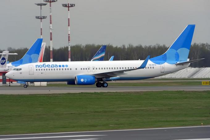 Boeing 737-800 «Победы» в аэропорту Внуково. Фото: Anna Zvereva/wikipedia.org/CC BY-SA 2.0
