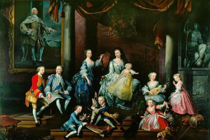 Принцесса Каролина Матильда на руках её матери, окружённая братьями и сестрами.                                                 Джордж Кнаптон. Фото: Public Domain