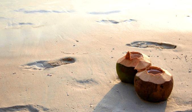 кокос, пляж, море