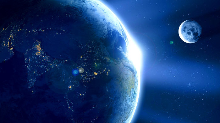 луна, земля