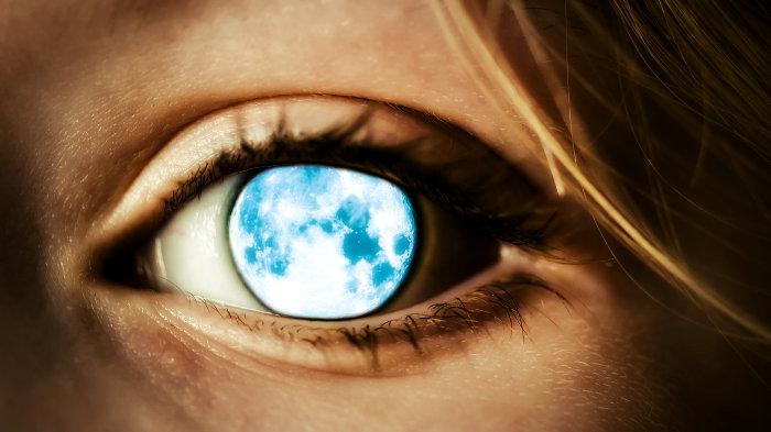 глаз, луна