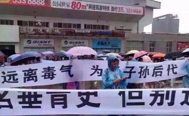 Многотысячный протест против строительства мусоросжигательного завода прошёл в Китае