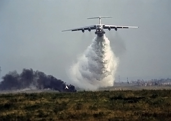 Тушение пожаров в Бурятии. Фото: mil.ru