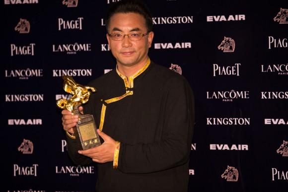 Режиссёр Пема Тседен завоевал премию «Золотая лошадь» за лучший адаптированный сценарий, 21 ноября 2015 г. Фото: Xu Jidong/Epoch Times