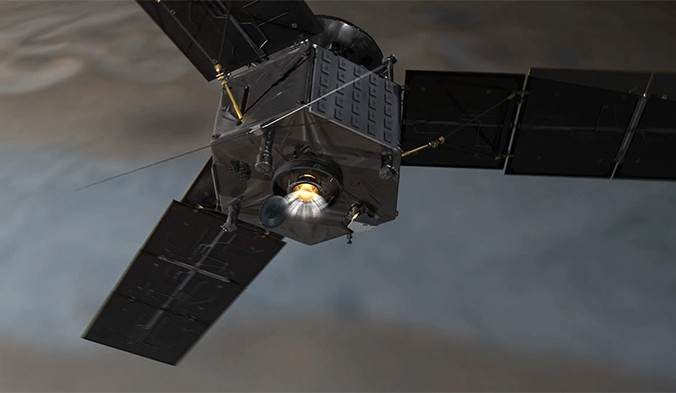 Иллюстрация аппарата «Юнона». Фото:  NASA/JPL-Caltech