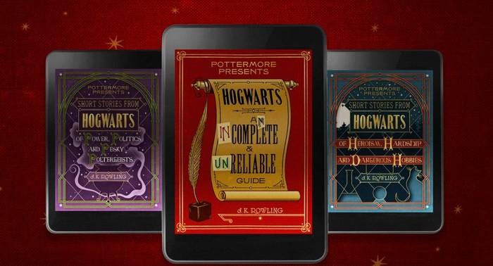 Новые книги о Гарри Поттере. Скриншот: pottermore.com