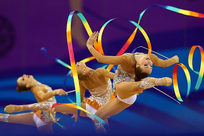 Выступление российских гимнасток на Олимпиаде в Рио-де-Жанейро. Фото: Robert Prezioso/Getty Images for BEGOC