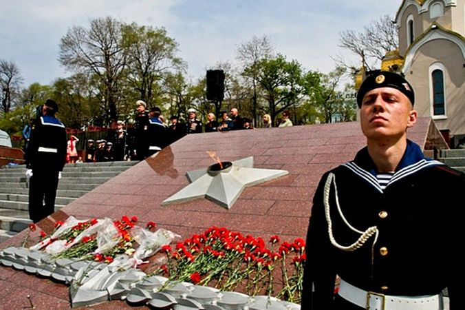 Вечный огонь мемориального комплекса «Боевая слава Тихоокеанского флота» во Владивостоке. Фото: mil.ru/CC BY 4.0