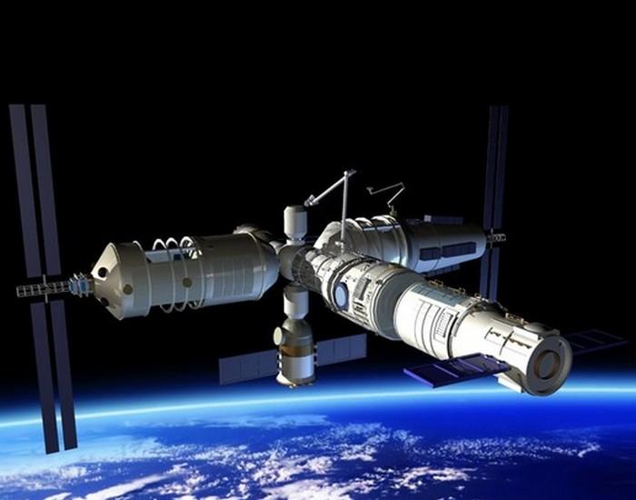 Китайская космическая станция «Тяньгун-1». Фото: TMRO/youtube, CC BY