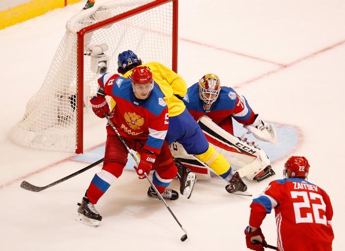 Кубок мира по хоккею, матч между сборными России и Швеции, Торонто, 18 сентября, 2016 год. Фото: Gregory Shamus/Getty Images