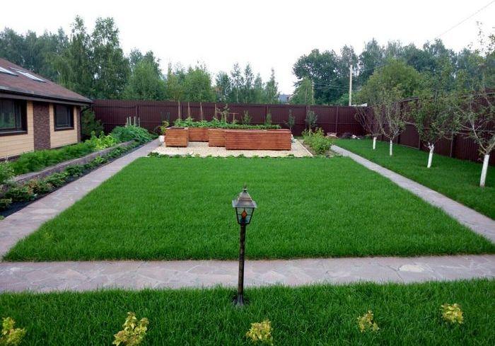 Выравнивание территории дачного дома. Фото: idealgrass.ru/Зелёные горизонты