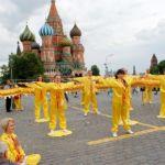 Последователи  «Фалуньгун» в Москве. Фото: faluninfo.ru