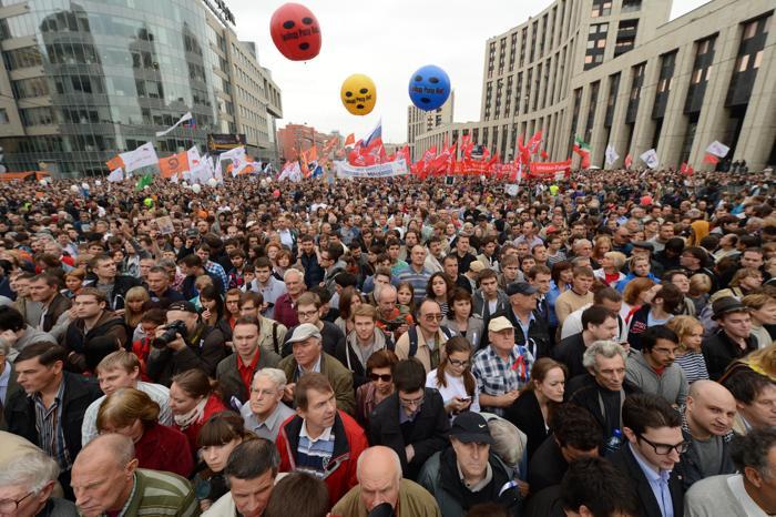 Акция протеста «Марша миллионов», 15 сентября 2012 года в центре Москвы. Фото: ANDREY SMIRNOV/AFP/GettyImages