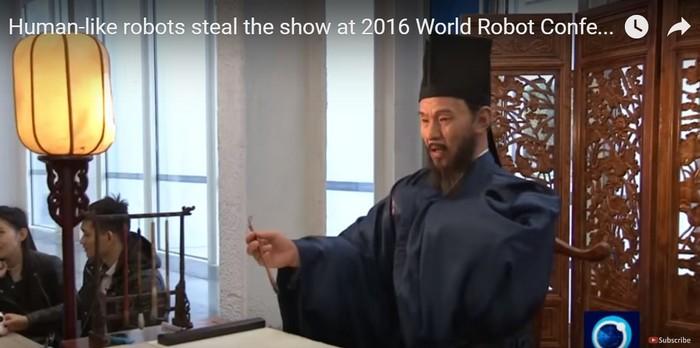 Робот Ван Янмин. Скриншот: PressTV News Videos /youtube.com