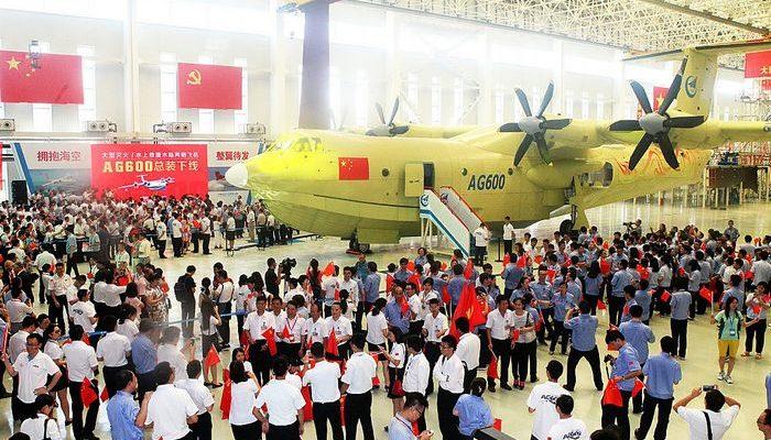Китай на авиасалоне представил самый большой в мире самолёт-амфибию