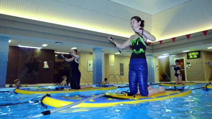 Занятия в сети фитнес-клубов X-Fit