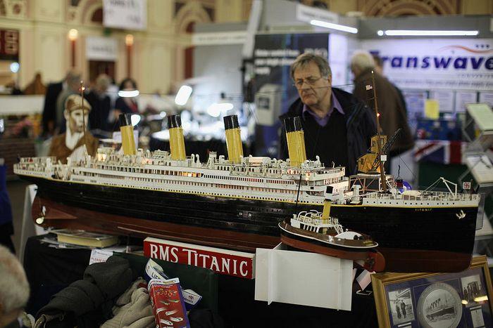 Модель британского «Титаника» на выставке в Александрийском дворце в Лондоне, 20 января 2012 год. Фото: Dan Kitwood/Getty Images