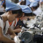 Швейная фабрика в Хуабэй китайской провинции Аньхой. Фото: STR/AFP/Getty Images