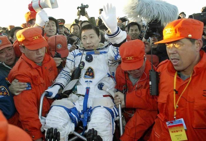 Встреча первого космонавта Китая Ян Ливэя. Фото: AFP/AFP/Getty Images