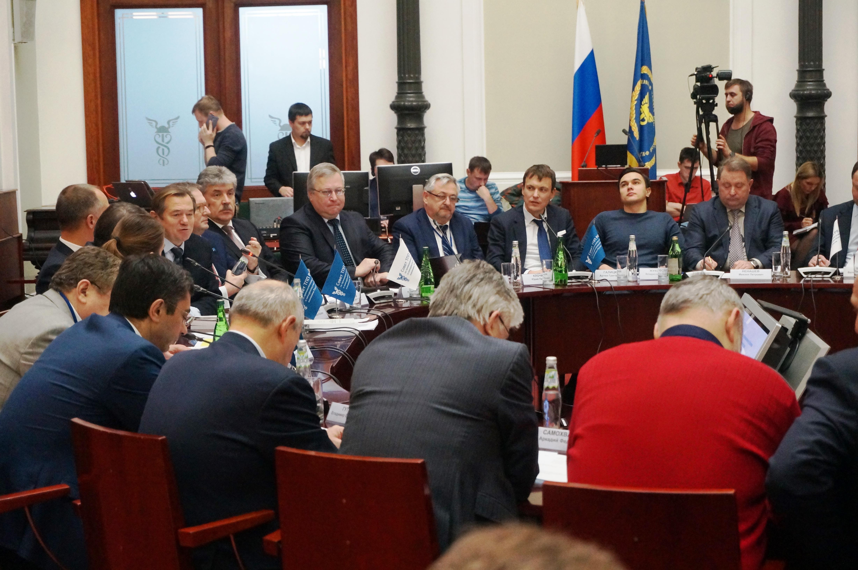 Заседание Совета ТПП РФ по промышленному развитию и конкурентоспособности экономики России. Фото: Ульяна Ким/Великая Эпоха