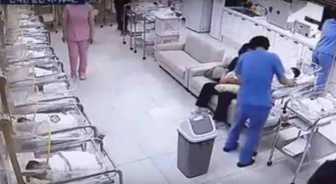 роддом, медсестра, младенец, инкубатор