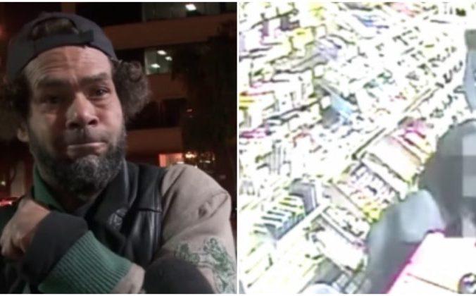 good samaritan, парень, бездомный, магазин
