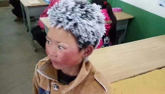 8-летний мальчик прошёл 5 км в мороз без тёплой одежды, чтобы сдать экзамен