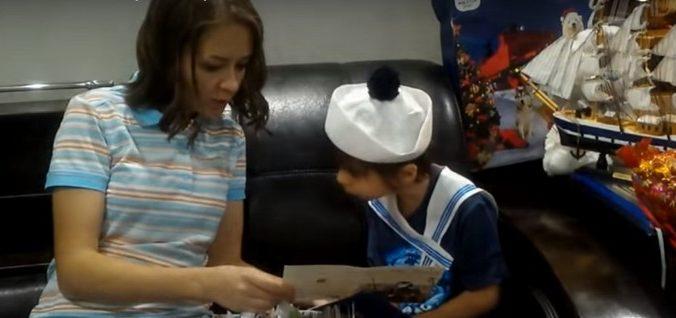 мальчик, мама, моряк, мечта, письмо, дцп
