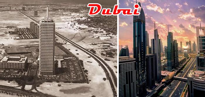 Как изменился Дубай всего за несколько десятилетий! Смотрите