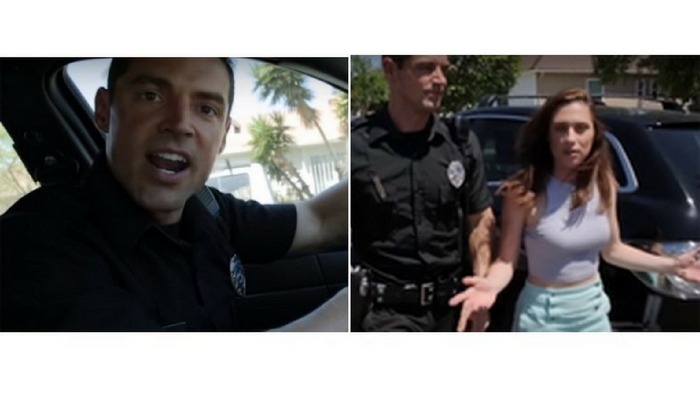 Полицейский арестовал девушку за воровство, но та возмутилась. Ведь он её парень!