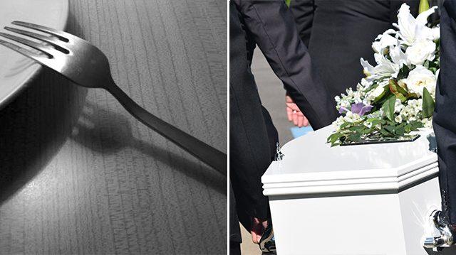 Женщину похоронили с вилкой в руке. Причина всех удивила