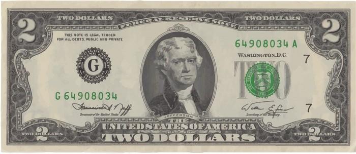 Мужчина раздал пассажирам самолёта 2-долларовые банкноты. На это была причина