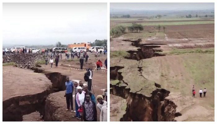 Африка раскалывается на части. Опубликовано новое видео
