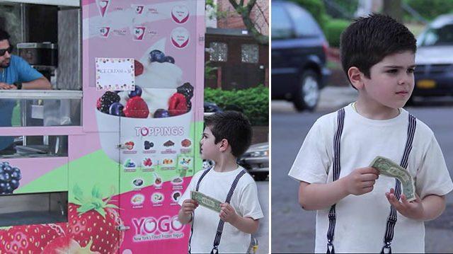 (Видео) Купить мороженое или подать нищему? Выбор ребёнка очевиден, но всё равно это стоит увидеть!