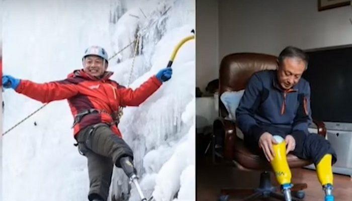 70-летний безногий китаец покорил Эверест