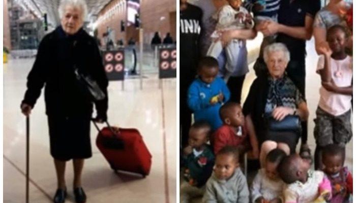 93-летняя старушка отправилась в Кению и стала волонтёром в детском приюте
