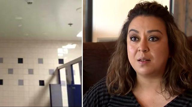 Дочь набезобразничала в школьном туалете. В наказание мама отправила её убирать за собаками на улице