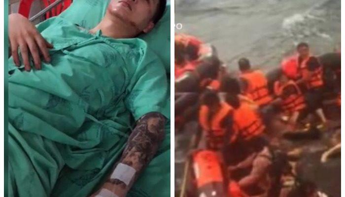 Шторм потопил корабль с туристами. Парень трижды отказывался от спасения ради других людей и выжил, проведя в воде 12 часов