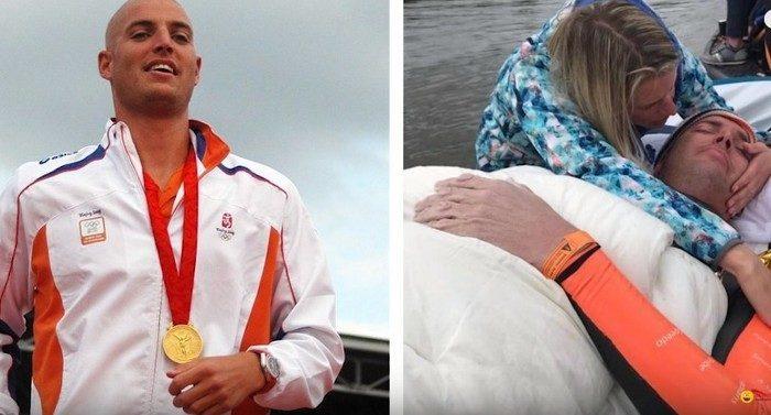 Олимпийский чемпион проплыл 163 км и собрал 2,5 млн евро на борьбу с раком. Когда-то он сам страдал лейкемией