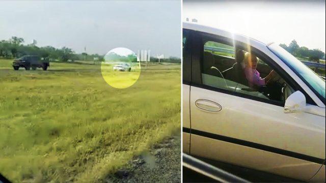 Водитель заметил женщину, едущую против движения по встречной полосе, и бросился на помощь
