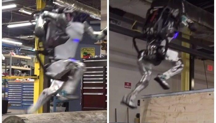 (Видео) Робот Атлас овладел навыками паркура. Эра терминаторов наступает?